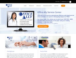 cms.officeally.com screenshot