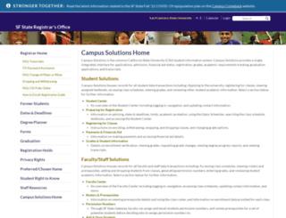 cms.sfsu.edu screenshot