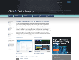 cmsdesignresource.com screenshot