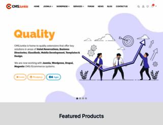 cmsjunkie.com screenshot