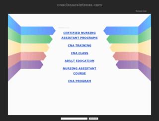 cnaclassesintexas.com screenshot