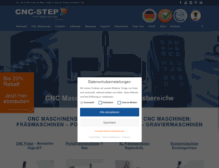 cnc-step.de screenshot