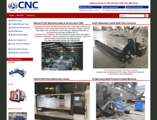 cncmachinery.com.au screenshot