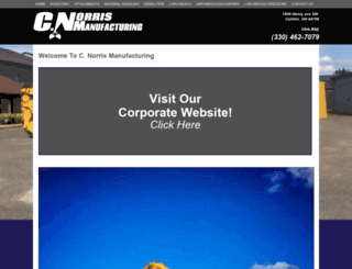 cnorrismanufacturing.com screenshot