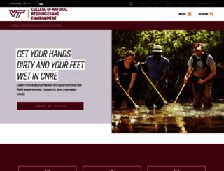 cnre.vt.edu screenshot