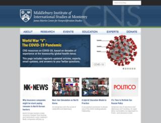 cns.miis.edu screenshot