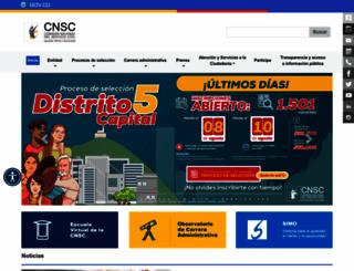 cnsc.gov.co screenshot