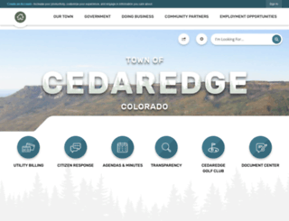 co-cedaredge.civicplus.com screenshot