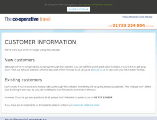 co-operativetravelworldwide.co.uk screenshot