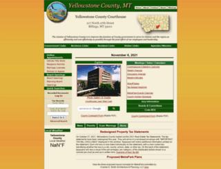 co.yellowstone.mt.gov screenshot