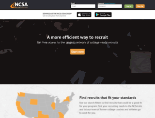 coach.ncsasports.org screenshot