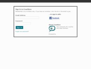 coachbox.ning.com screenshot