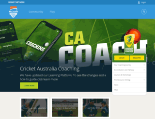 coaches.cricket.com.au screenshot
