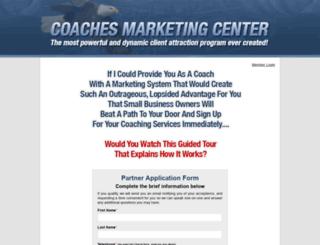 coachesmarketingcenter.com screenshot