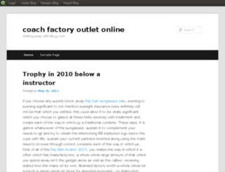 coachfactoryonline.blog.com screenshot