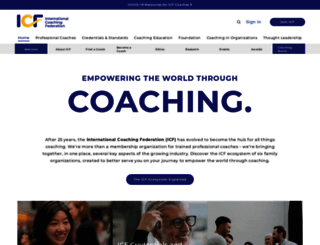 coachfederation.org screenshot