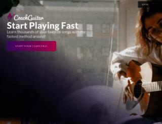 coachguitar.com screenshot