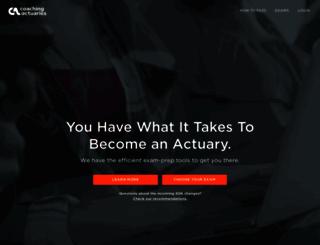 coachingactuaries.com screenshot