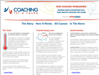 coachingforacause.org screenshot