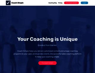 coachsimple.net screenshot