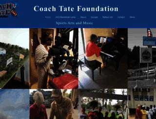 coachtatefoundation.com screenshot