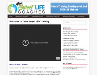 coachtraining.sweetlifefitness.net screenshot