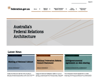 coag.gov.au screenshot
