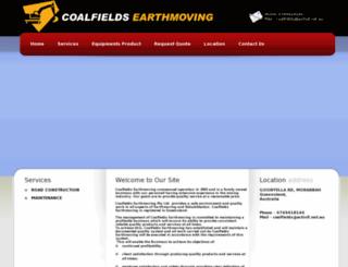 coalfieldsearthmoving.com.au screenshot