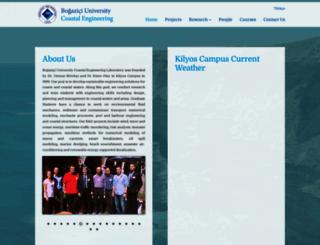 coastal.boun.edu.tr screenshot