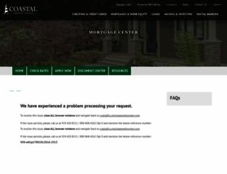 coastalfcu.mortgagewebcenter.com screenshot