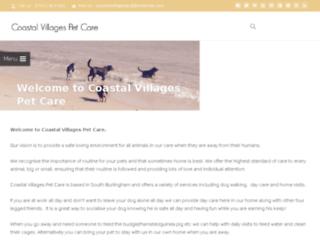 coastalvillagespetcare.co.uk screenshot