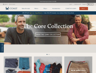 coastapparel.com screenshot
