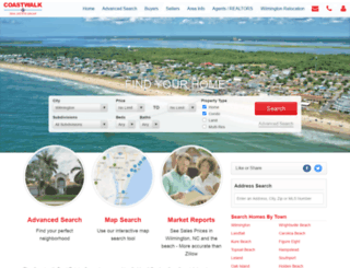 coastwalkrealestate.com screenshot