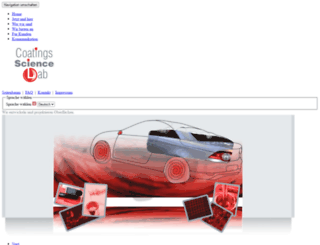 coatings-science-lab.de screenshot