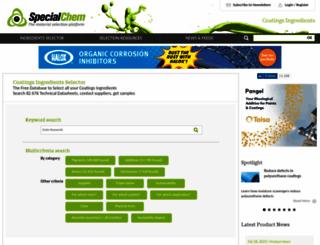 coatings.specialchem.com screenshot