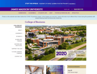 cob.jmu.edu screenshot