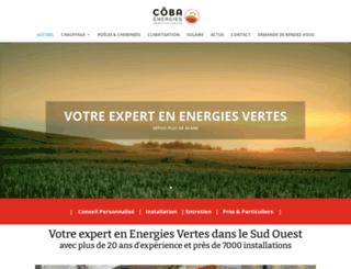 cobaenergies.fr screenshot