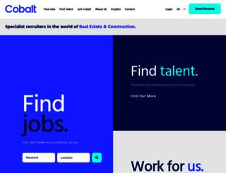 cobaltrecruitment.com screenshot