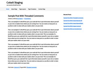 cobaltstaging.com screenshot