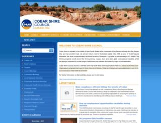 cobar.nsw.gov.au screenshot