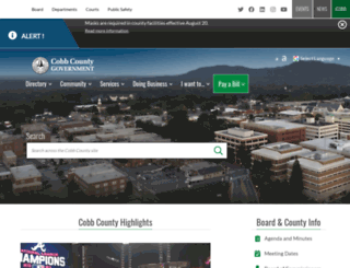cobbcountyga.gov screenshot