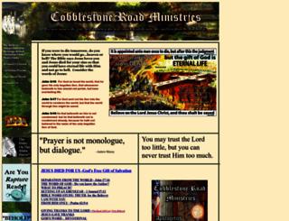 cobblestoneroadministry.org screenshot