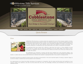 cobblestonetitle.com screenshot
