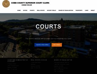 cobbsuperiorcourtclerk.com screenshot