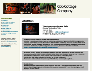 cobcottage.com screenshot