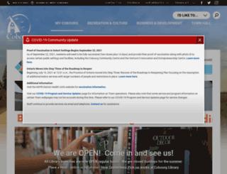 cobourg.library.on.ca screenshot