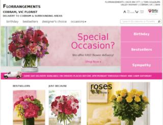cobramflorist.com.au screenshot