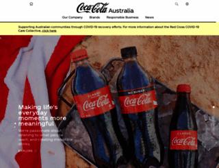 coca-cola.com.au screenshot