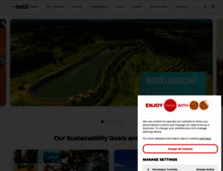 coca-colacompany.com screenshot