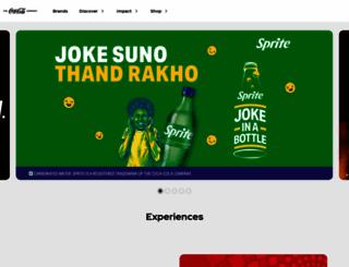coca-colaindia.com screenshot